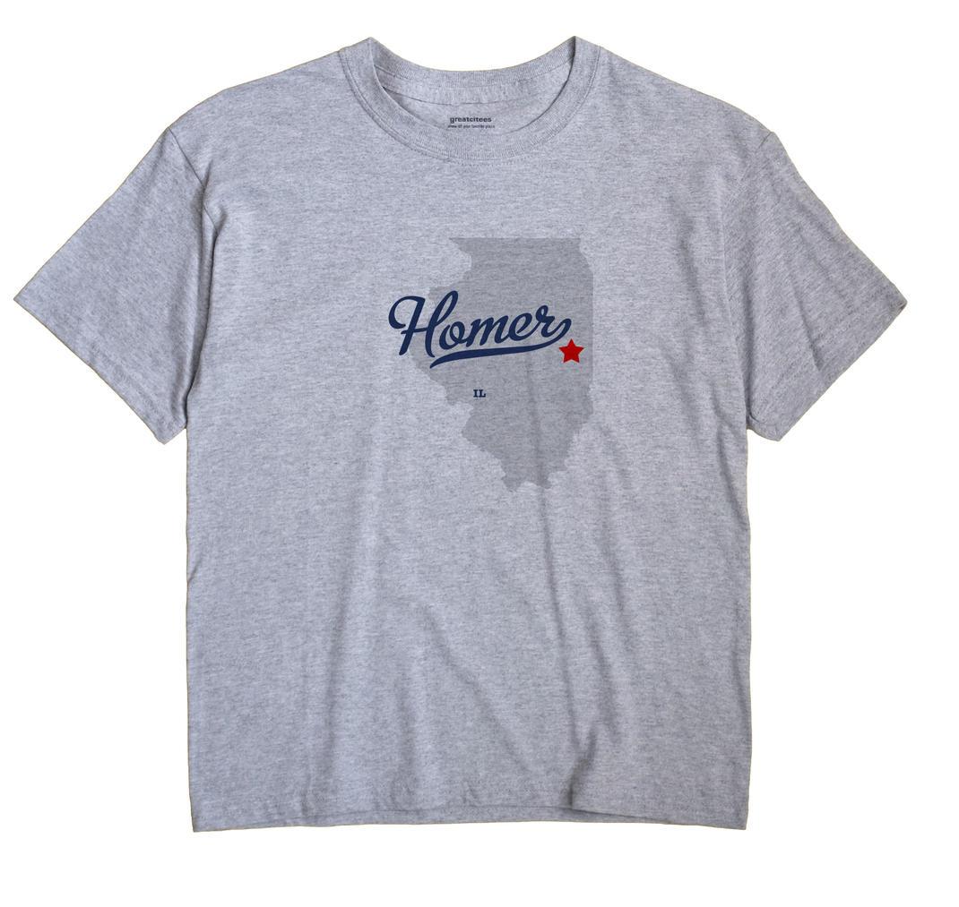 Homer, Champaign County, Illinois IL Souvenir Shirt