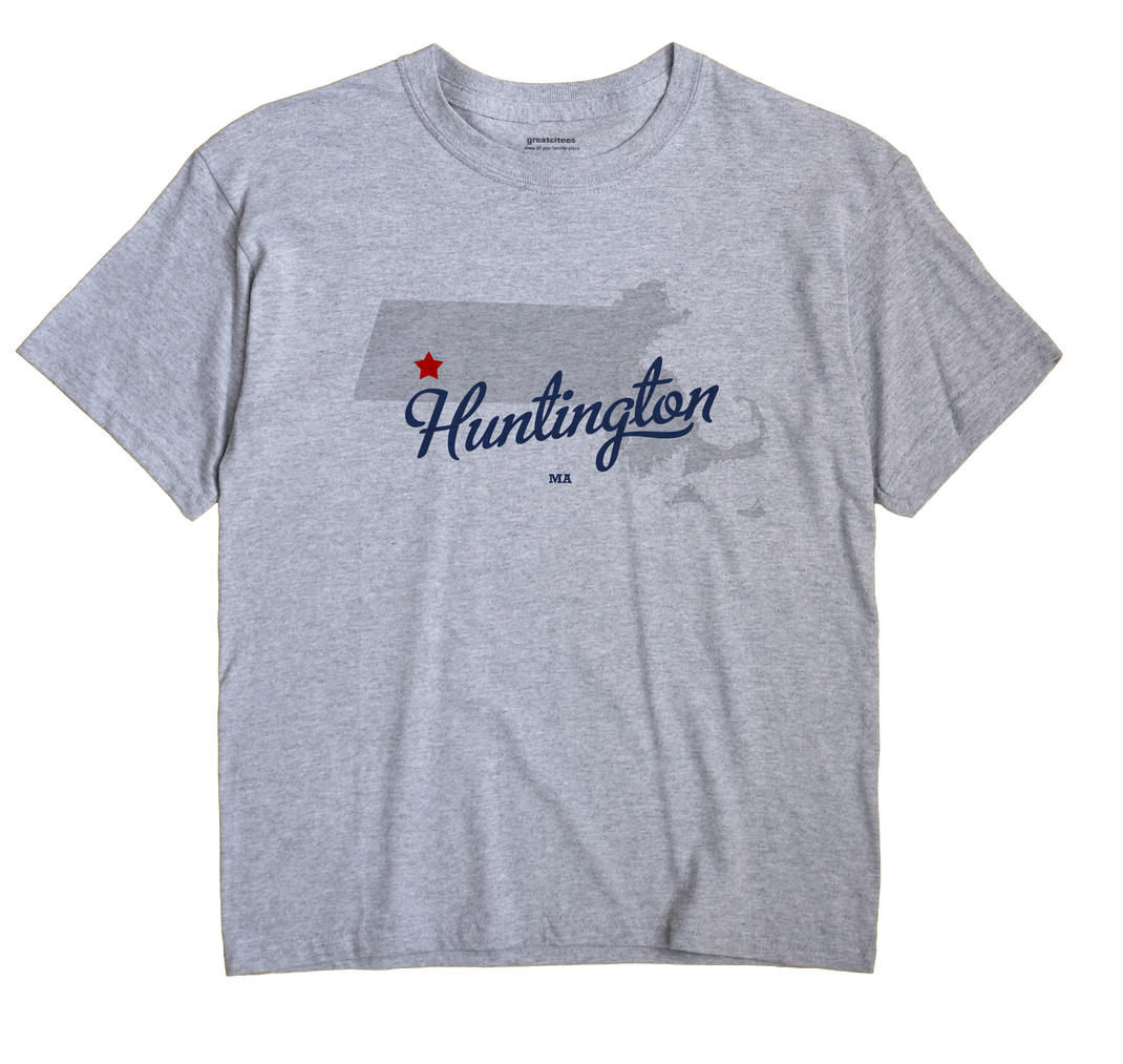 Huntington Massachusetts MA T Shirt METRO WHITE Hometown Souvenir