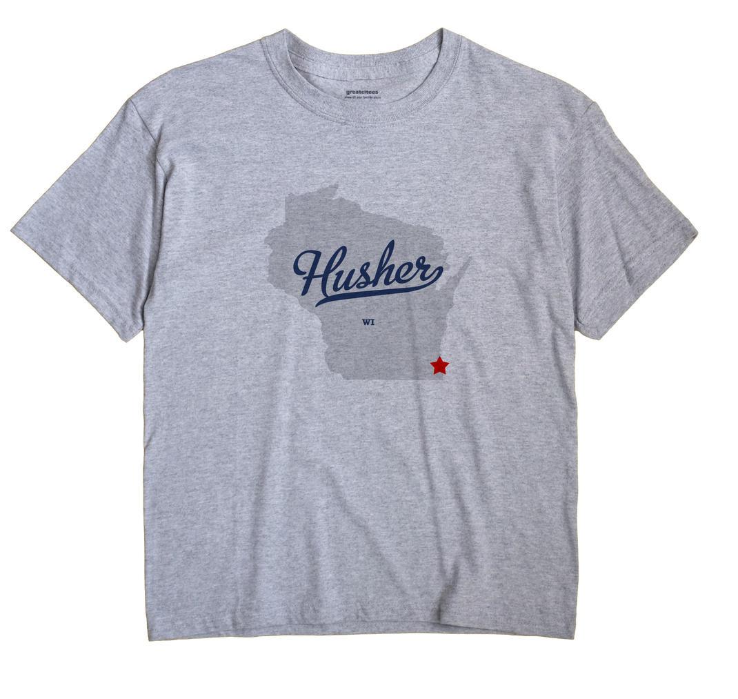 Husher, Wisconsin WI Souvenir Shirt