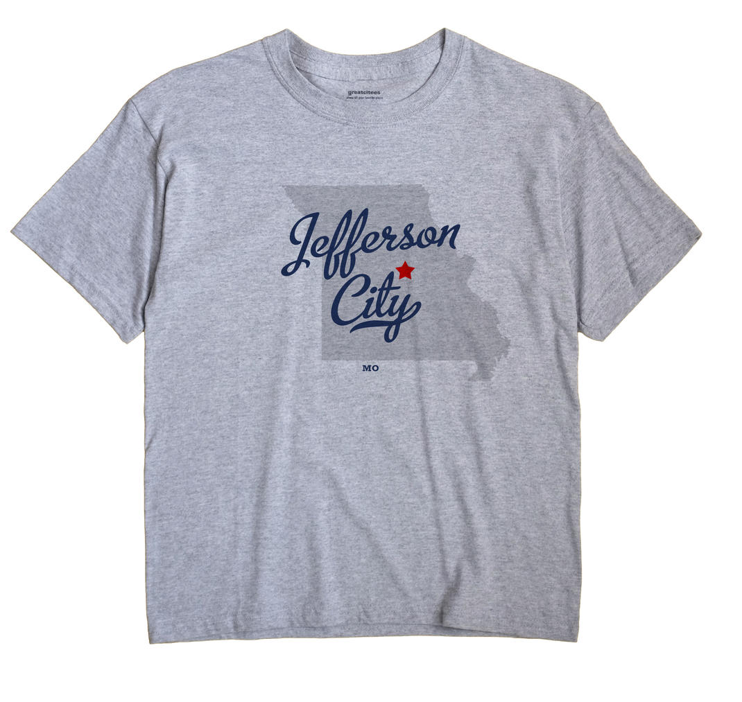Jefferson City Missouri MO T Shirt METRO WHITE Hometown Souvenir