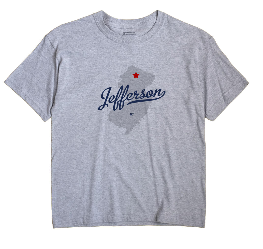 Jefferson New Jersey NJ T Shirt METRO WHITE Hometown Souvenir