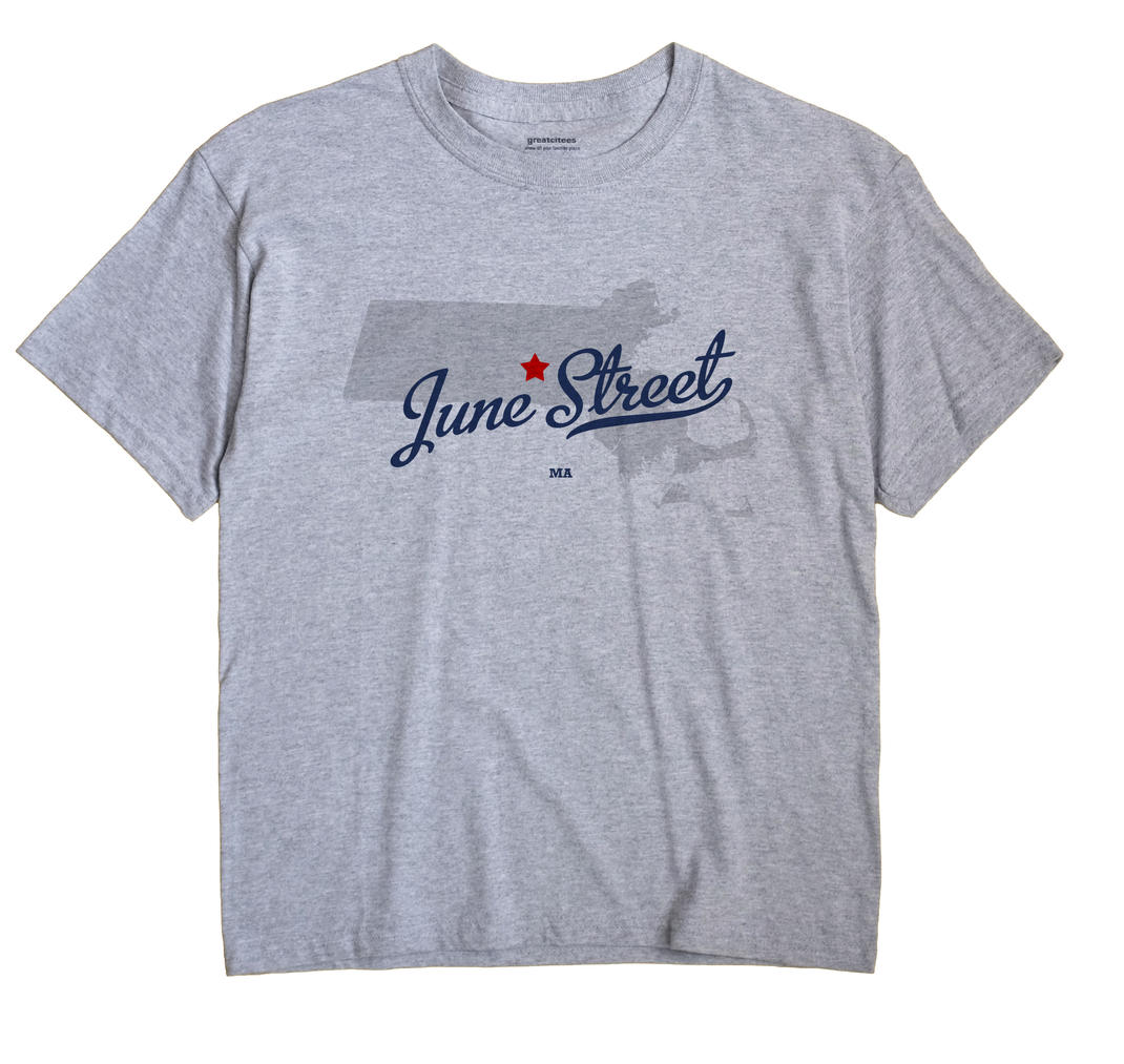 June Street, Massachusetts MA Souvenir Shirt