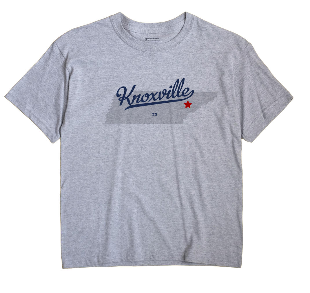 Knoxville Tn Map. Knoxville Tennessee TN Shirt