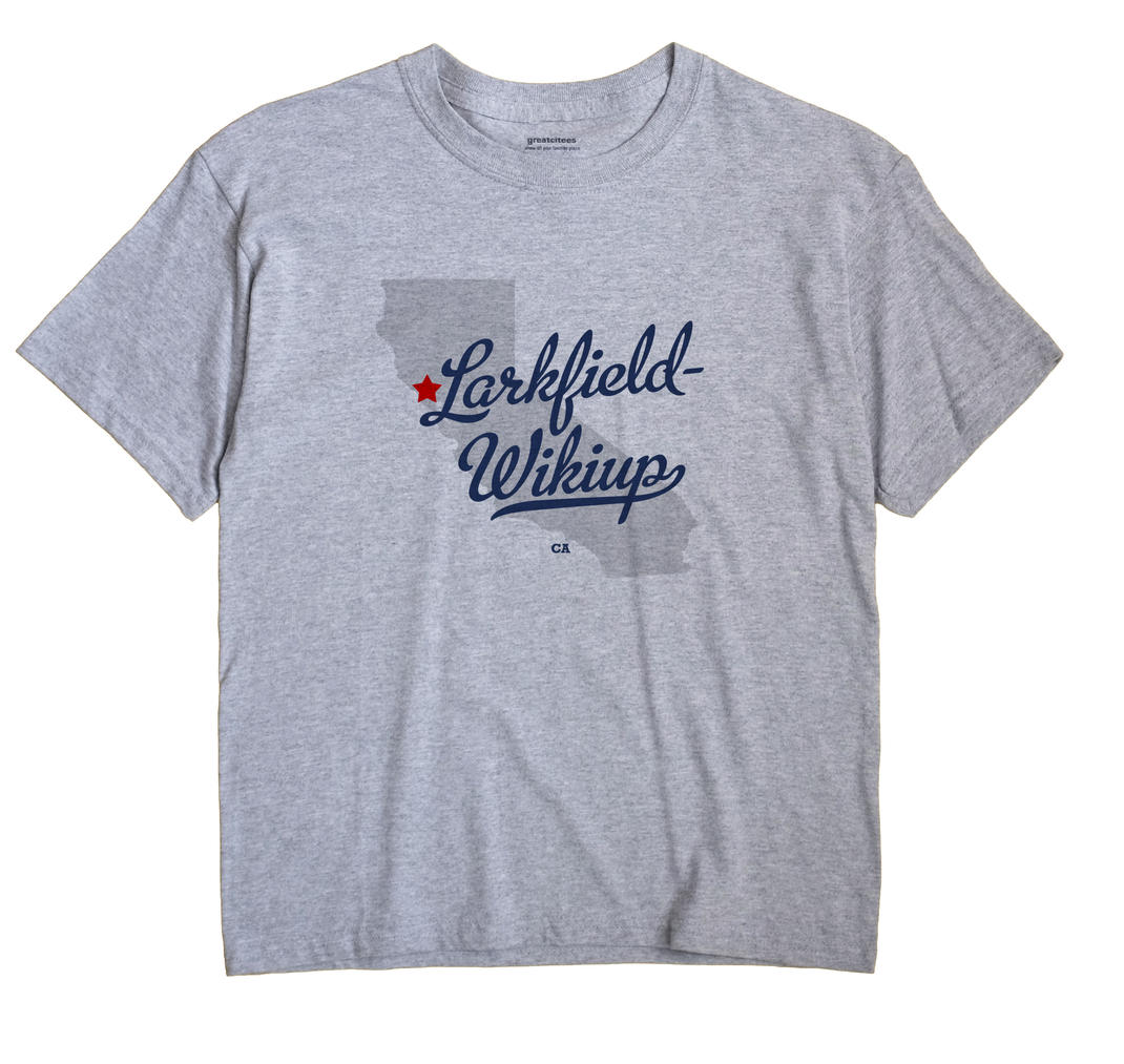 Larkfield-wikiup California CA T Shirt METRO WHITE Hometown Souvenir