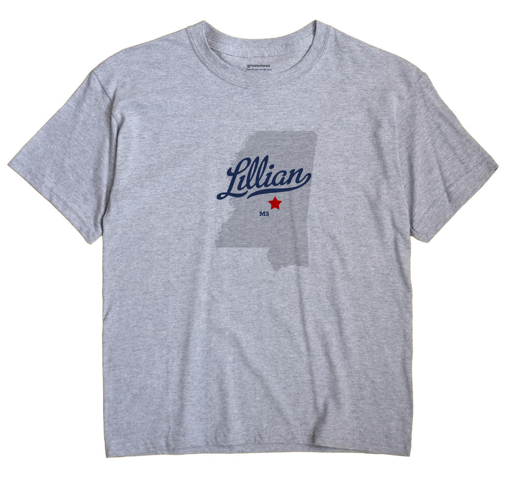 Lillian, Mississippi MS Souvenir Shirt