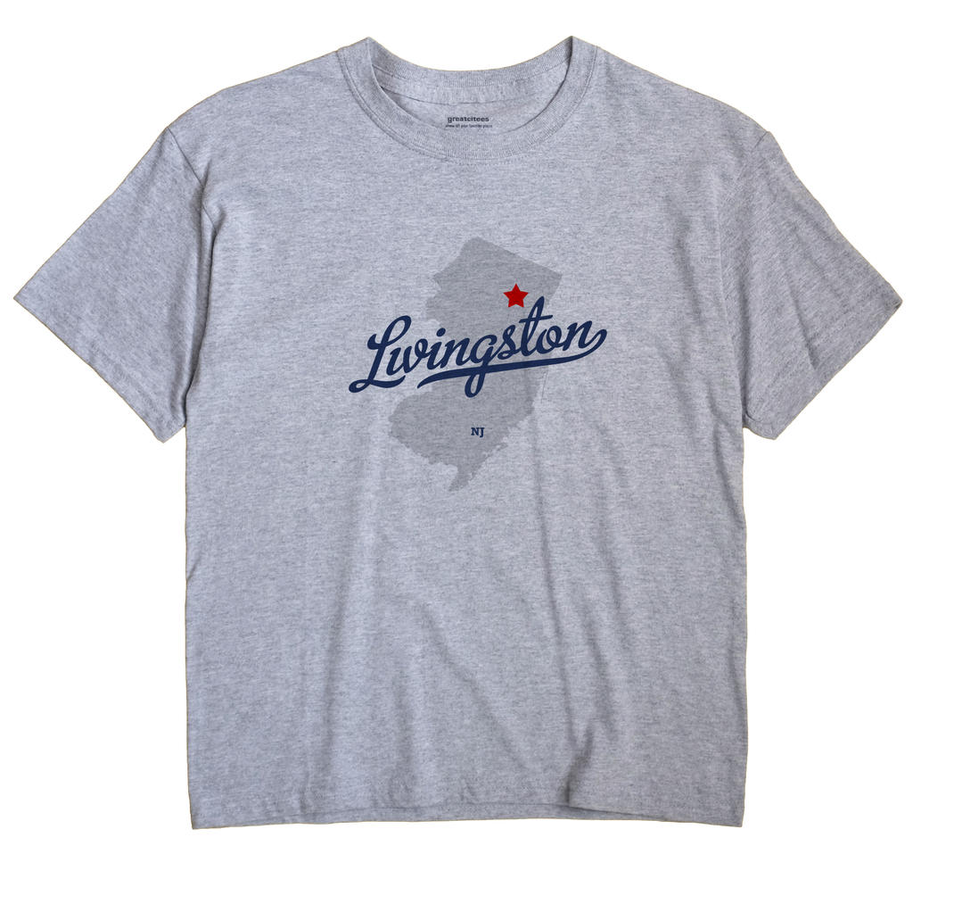 Livingston New Jersey NJ T Shirt CANDY WHITE Hometown Souvenir