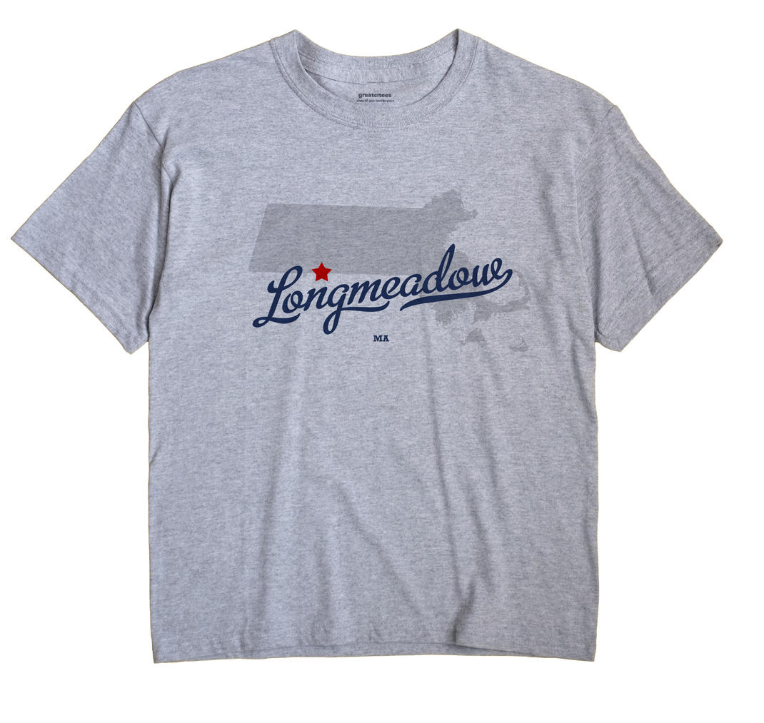 Longmeadow Massachusetts MA T Shirt METRO WHITE Hometown Souvenir