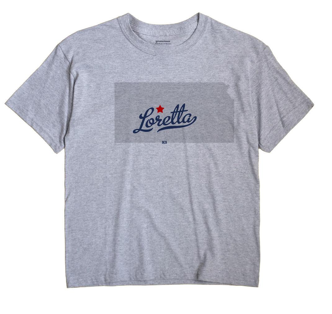 Loretta, Kansas KS Souvenir Shirt