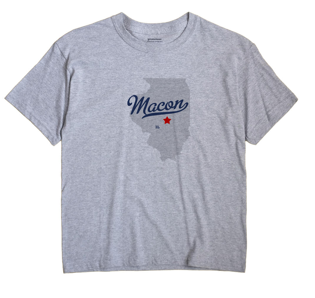 Macon, Macon County, Illinois IL Souvenir Shirt