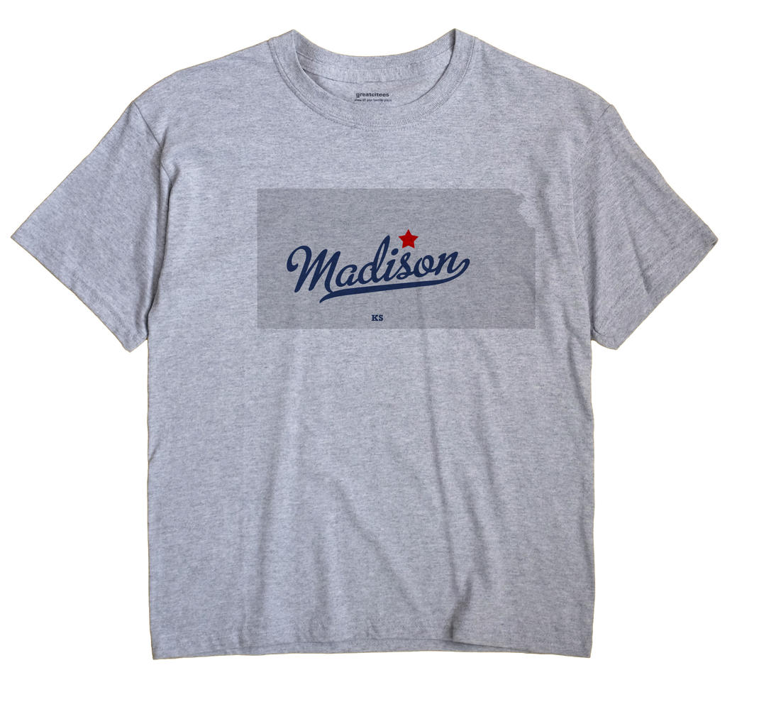 Madison, Lincoln County, Kansas KS Souvenir Shirt