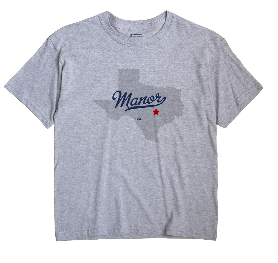 Manor Texas TX T Shirt METRO WHITE Hometown Souvenir