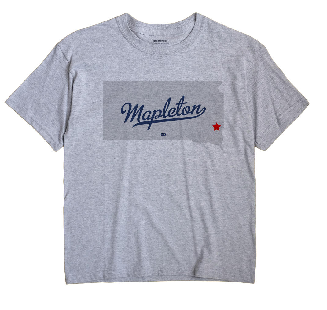 Mapleton, South Dakota SD Souvenir Shirt