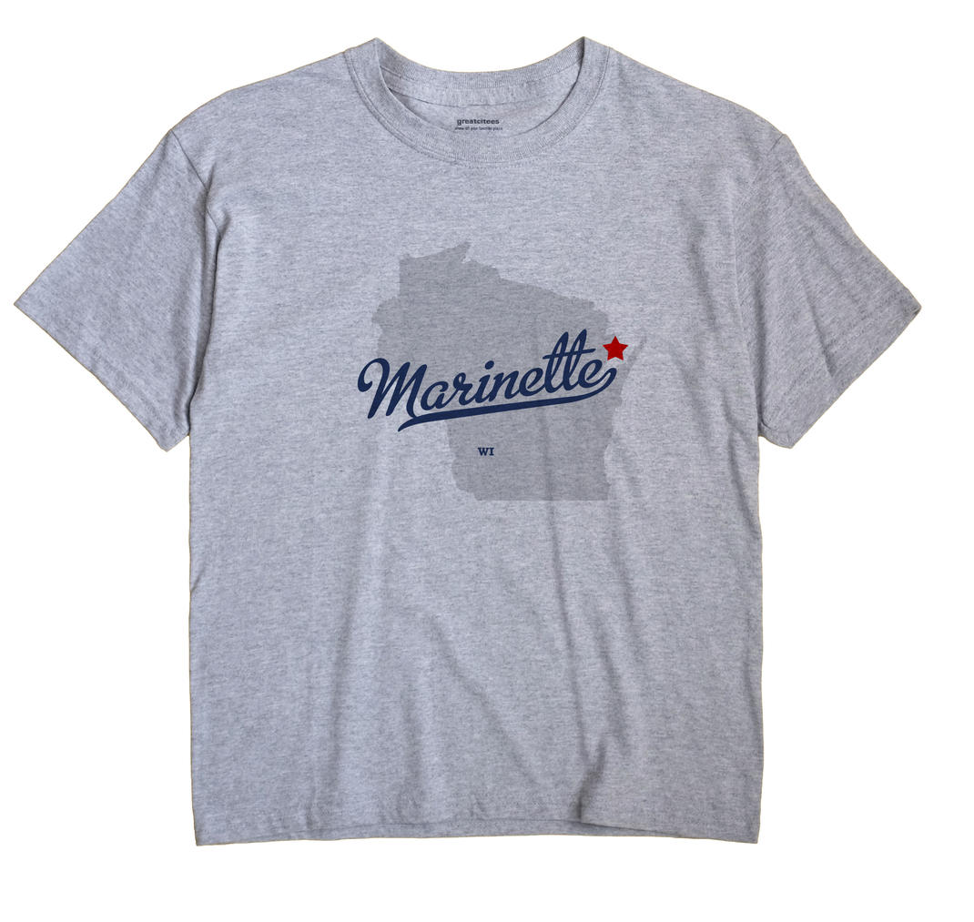 Marinette Wisconsin WI T Shirt MOJO WHITE Hometown Souvenir