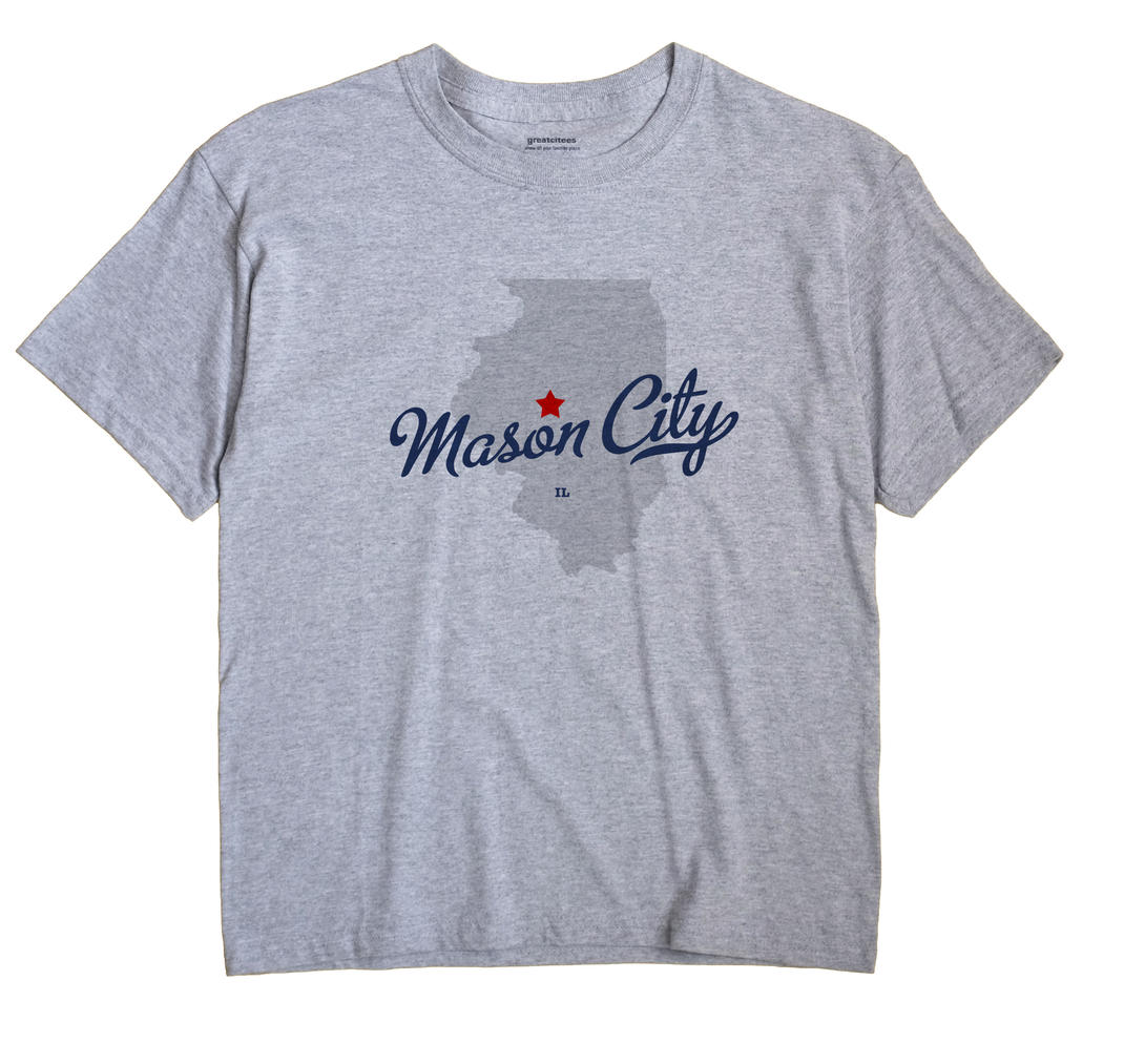 Mason City Illinois IL T Shirt METRO WHITE Hometown Souvenir