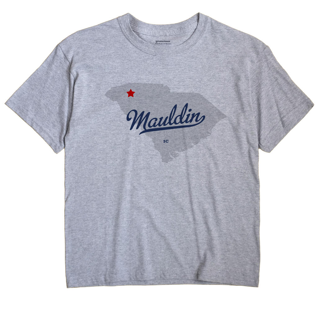 Mauldin South Carolina SC T Shirt METRO WHITE Hometown Souvenir