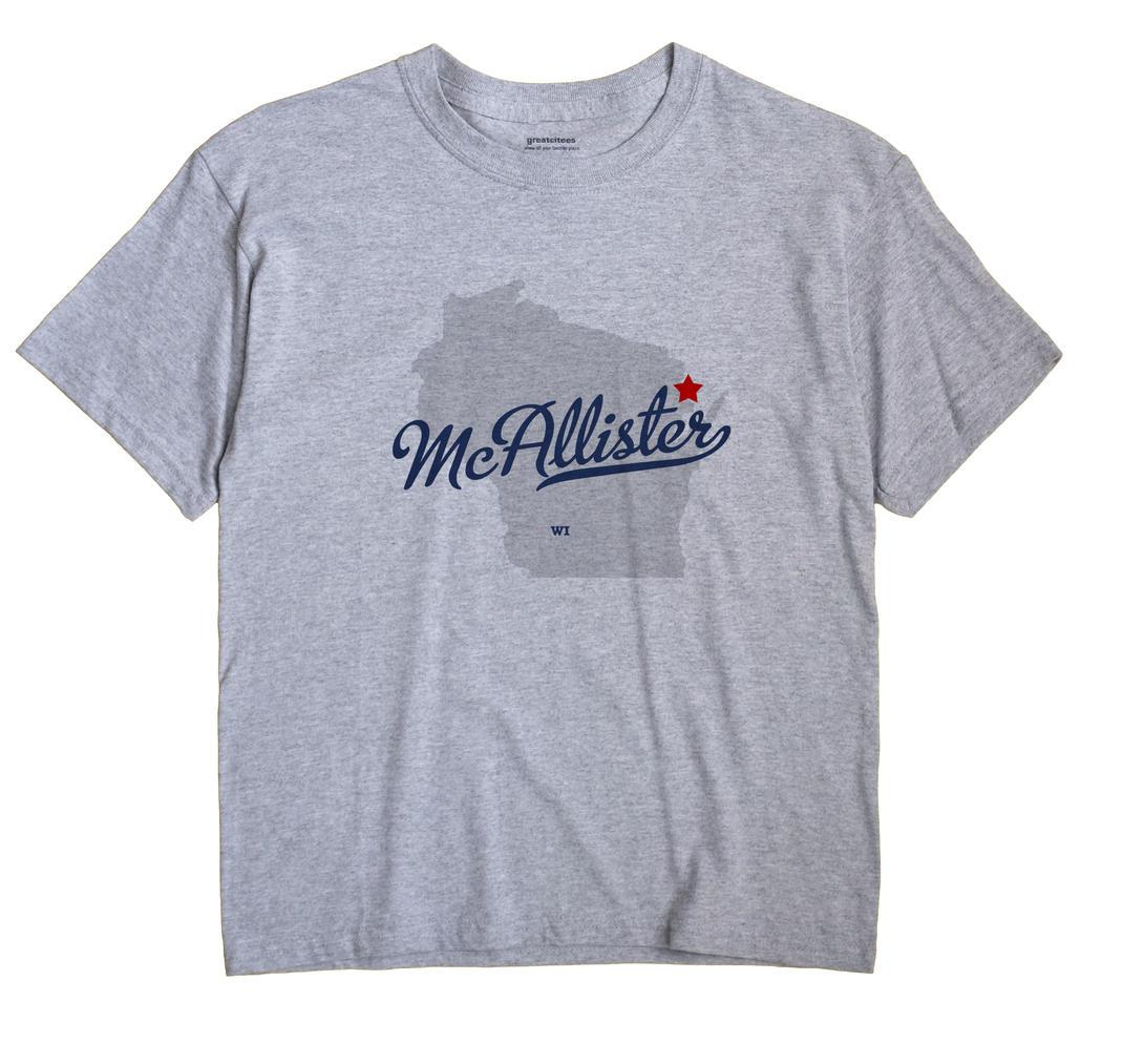 McAllister, Wisconsin WI Souvenir Shirt