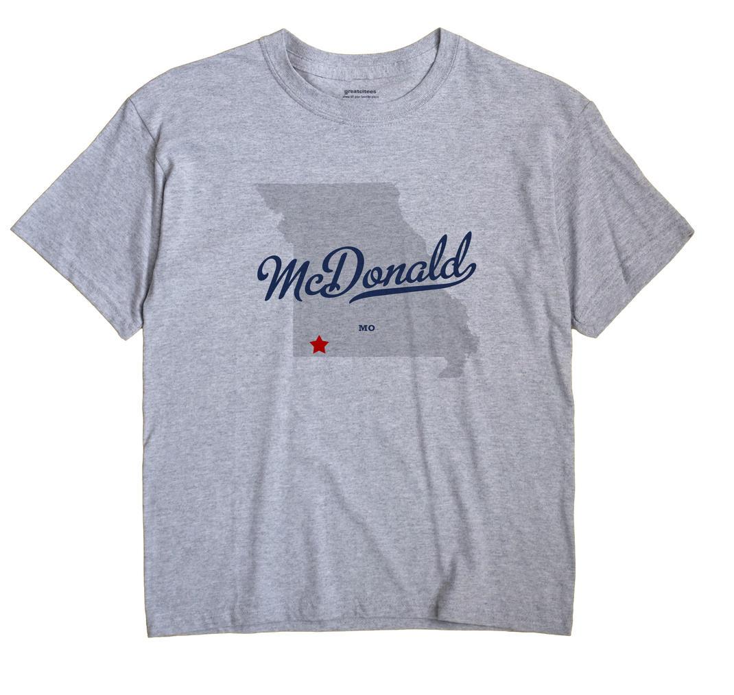 McDonald, Missouri MO Souvenir Shirt