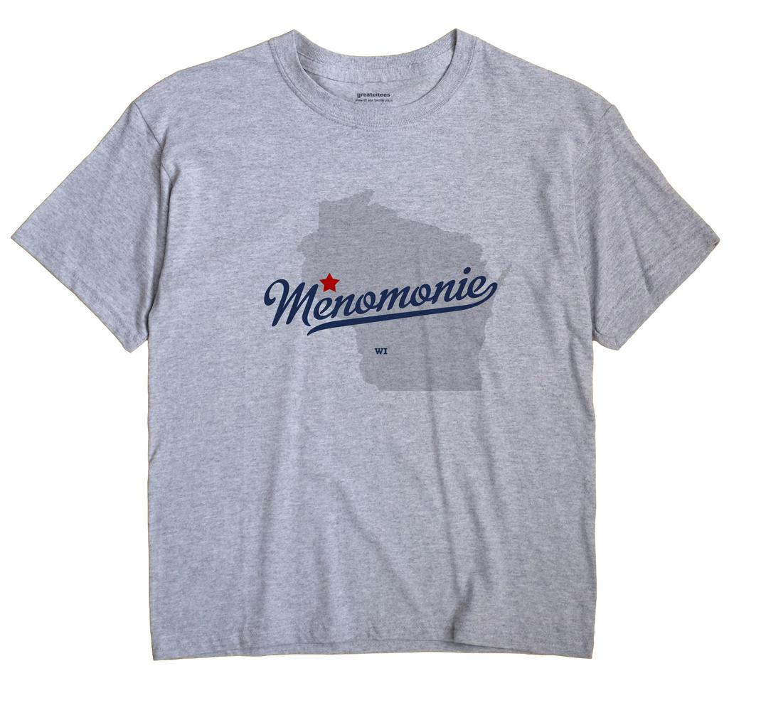 Menomonie Wi Map. Menomonie Wisconsin WI Shirt