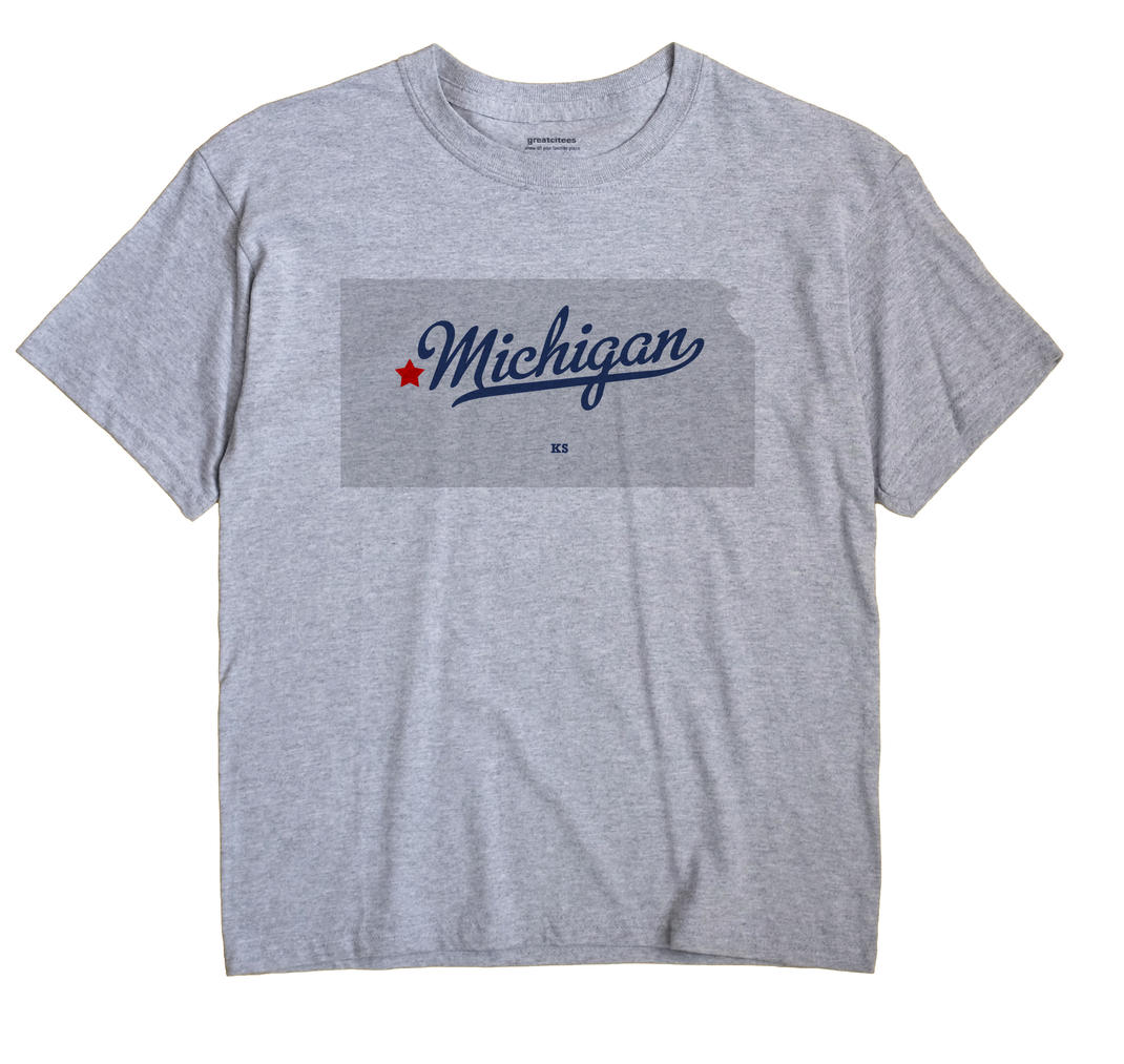 Michigan, Kansas KS Souvenir Shirt