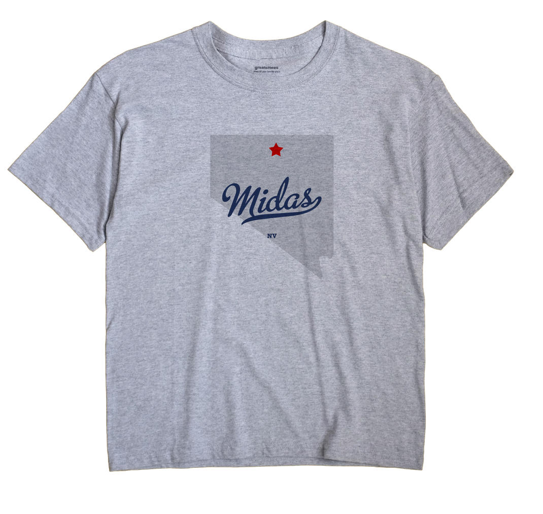 Midas, Nevada NV Souvenir Shirt