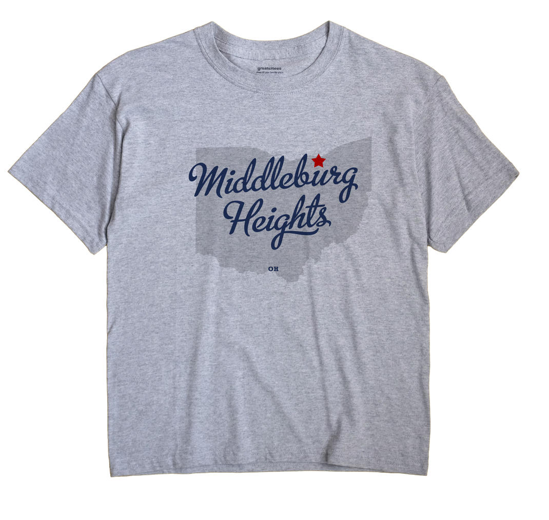 Middleburg Heights Ohio OH T Shirt METRO WHITE Hometown Souvenir