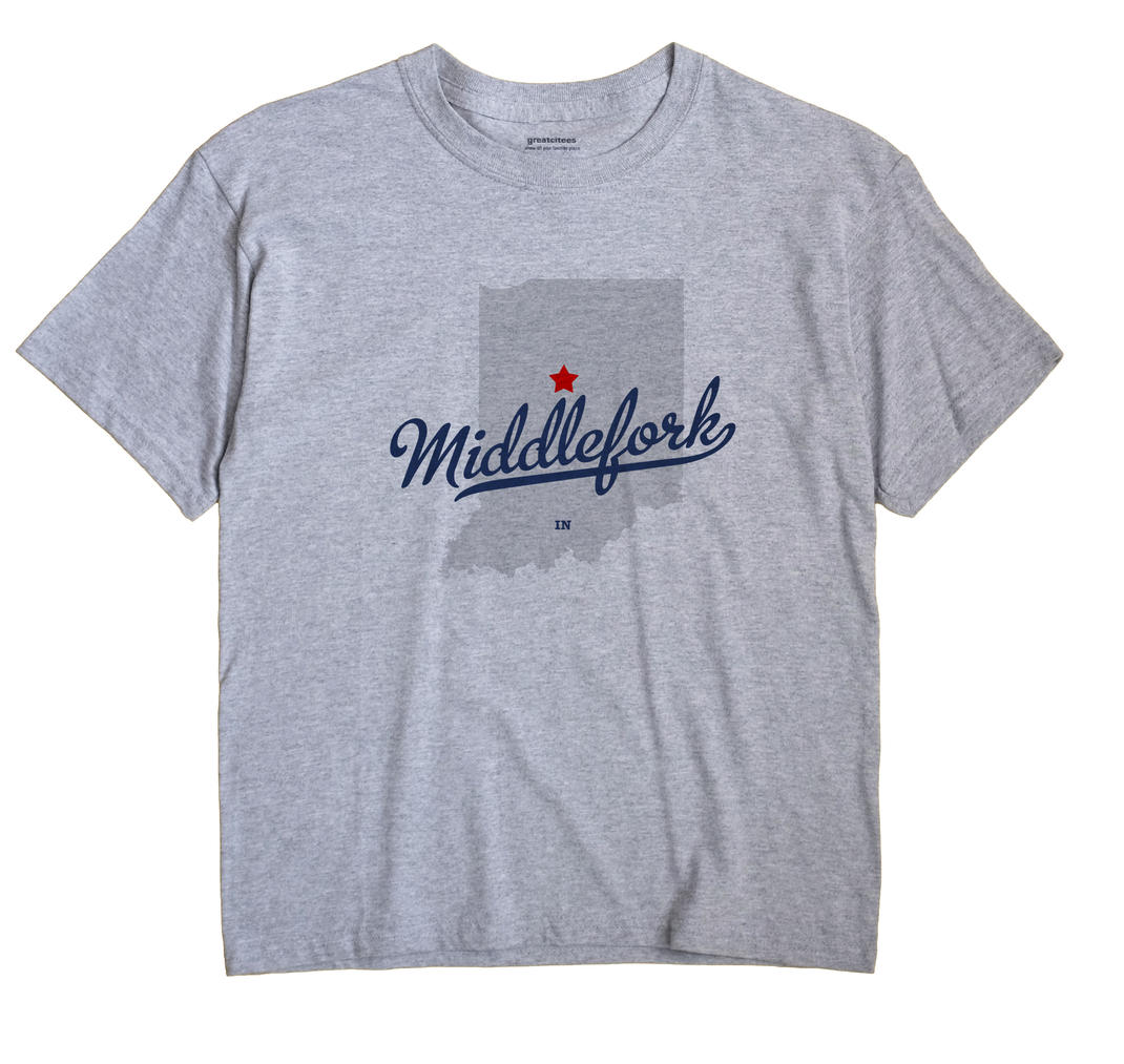 Middlefork, Clinton County, Indiana IN Souvenir Shirt