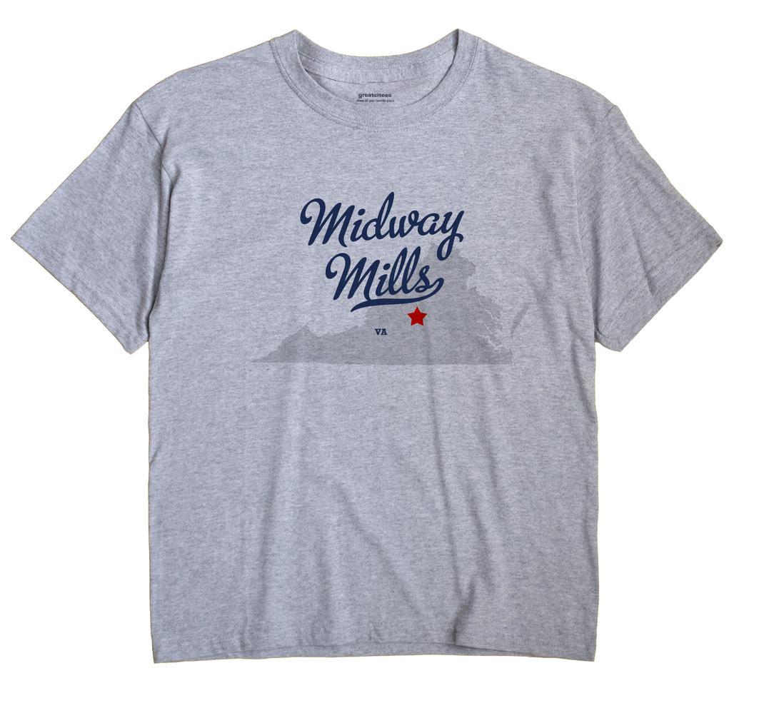 Midway Mills, Virginia VA Souvenir Shirt