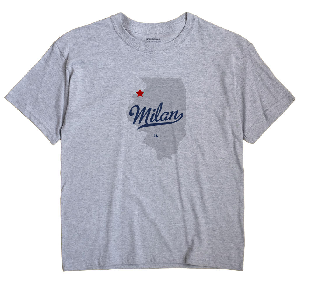 Milan, Rock Island County, Illinois IL Souvenir Shirt