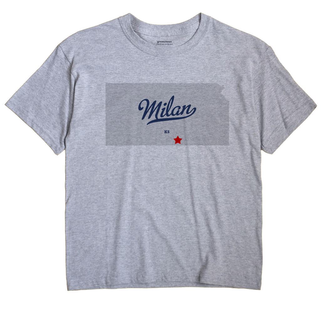 Milan, Kansas KS Souvenir Shirt