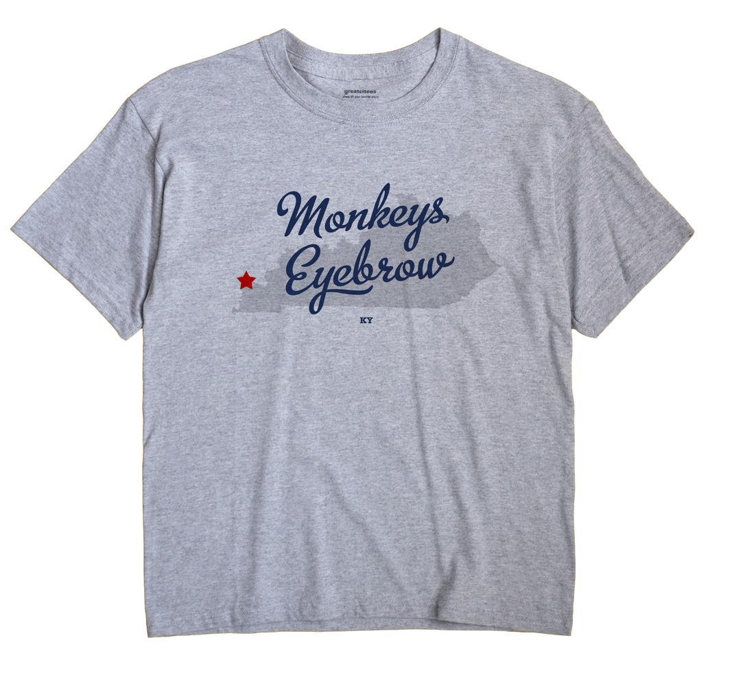 Monkeys Eyebrow, Kentucky KY Souvenir Shirt