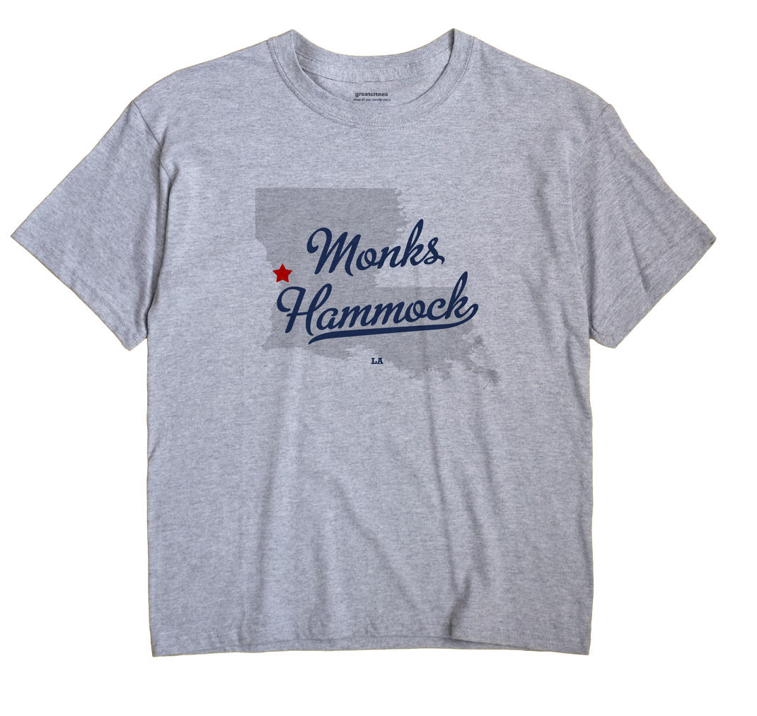 Monks Hammock, Louisiana LA Souvenir Shirt