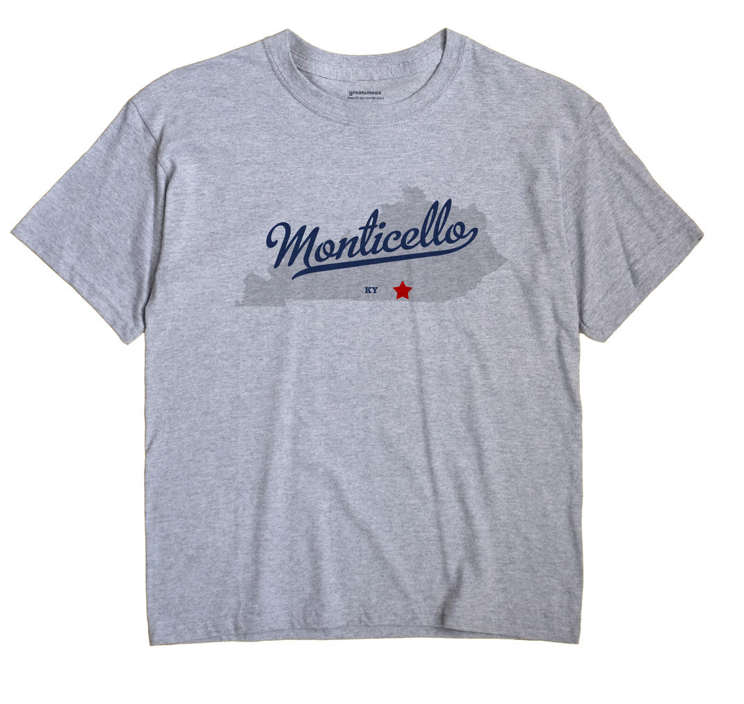 Monticello, Wayne County, Kentucky KY Souvenir Shirt