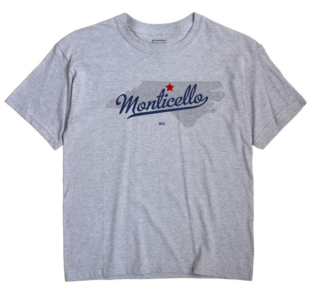 Monticello, North Carolina NC Souvenir Shirt