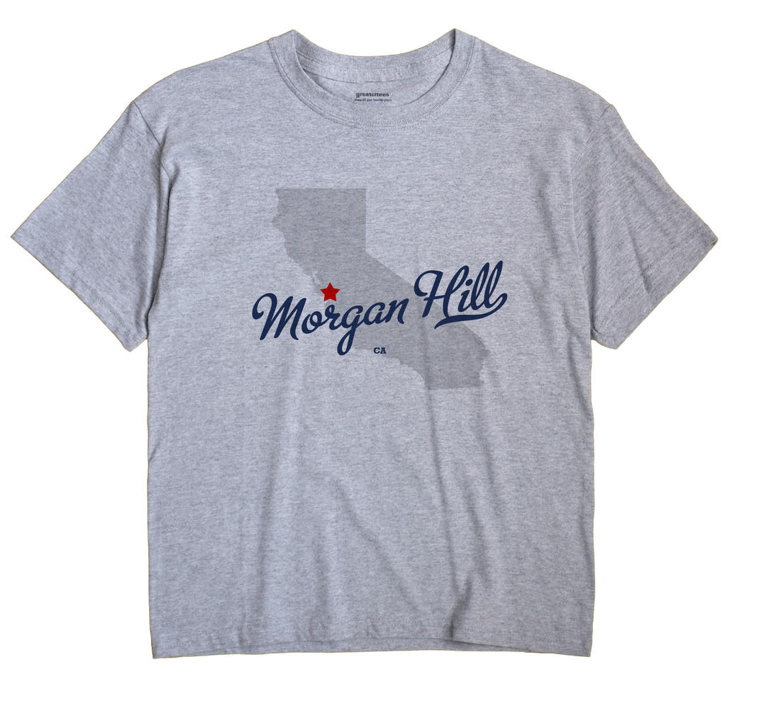Morgan Hill California CA T Shirt METRO WHITE Hometown Souvenir