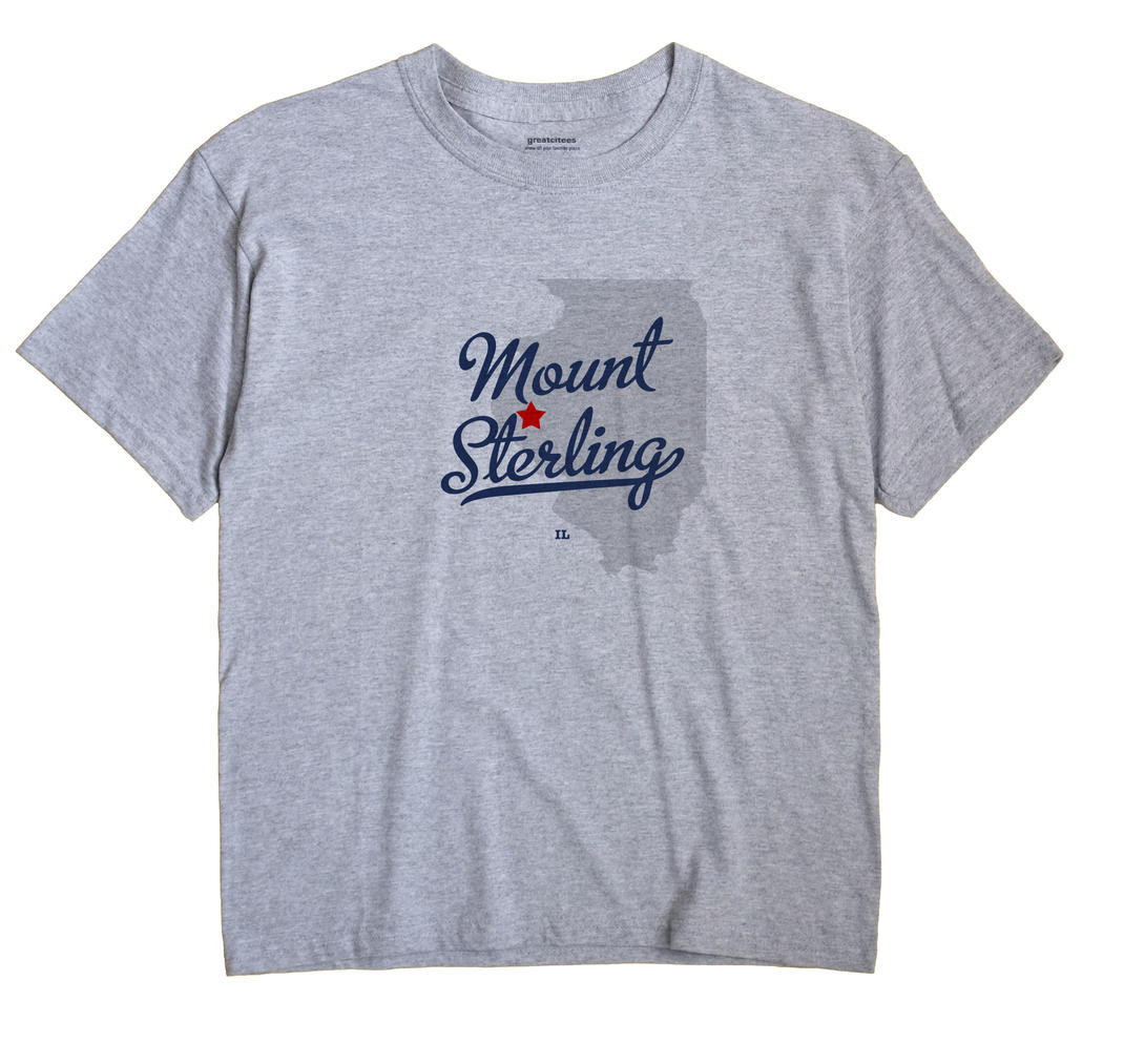 Mount Sterling Illinois IL T Shirt DAZZLE COLOR WHITE Hometown Souvenir