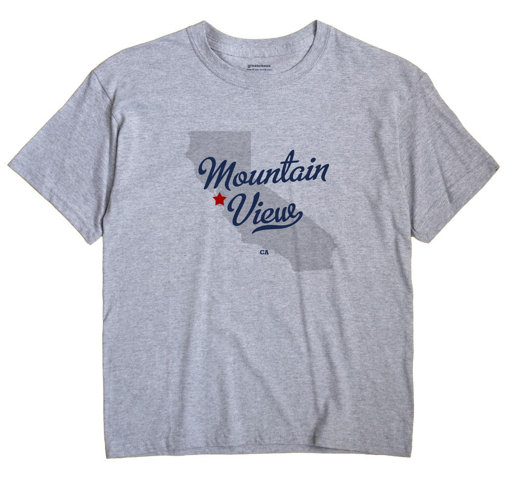 Mountain View California CA T Shirt METRO WHITE Hometown Souvenir