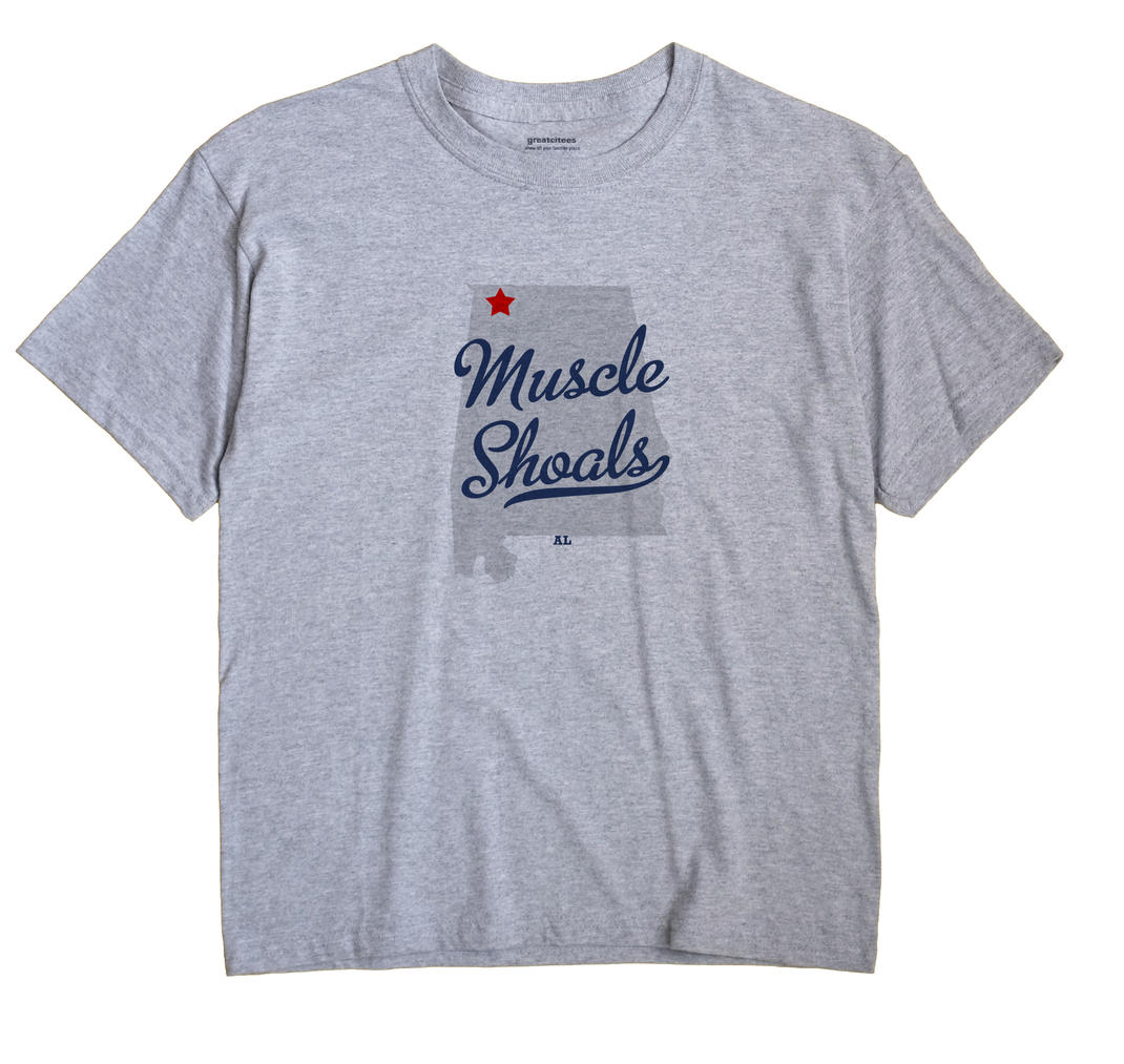 Muscle Shoals Alabama AL T Shirt METRO WHITE Hometown Souvenir