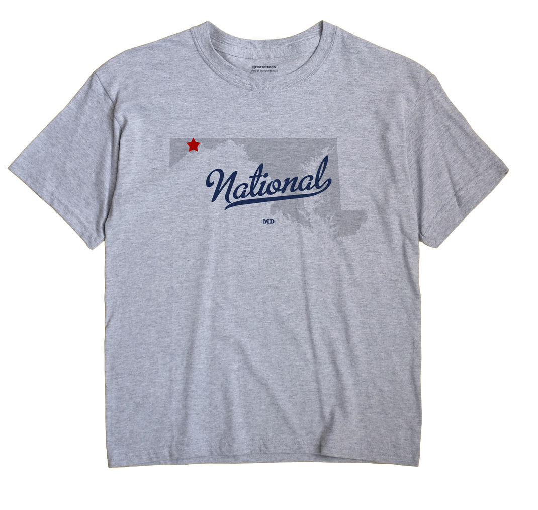 National, Maryland MD Souvenir Shirt