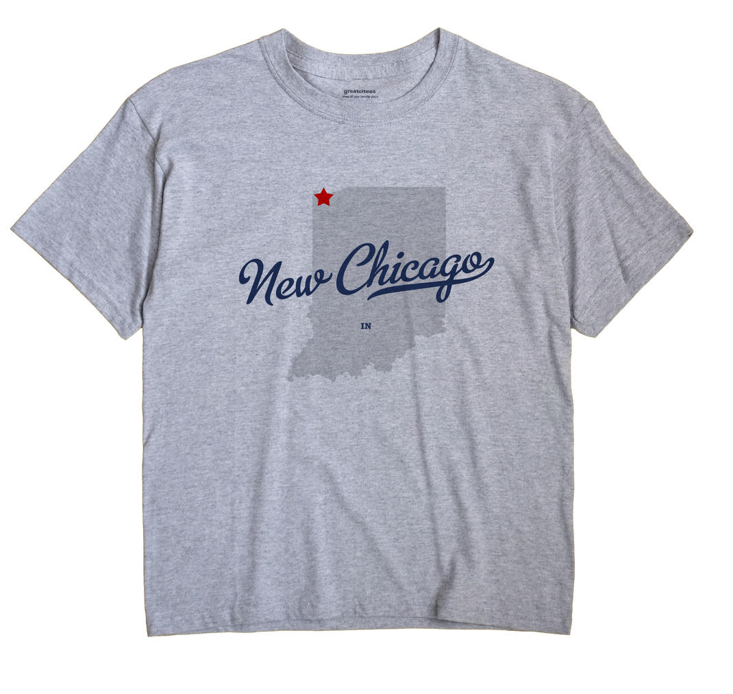 New Chicago Indiana IN T Shirt METRO WHITE Hometown Souvenir