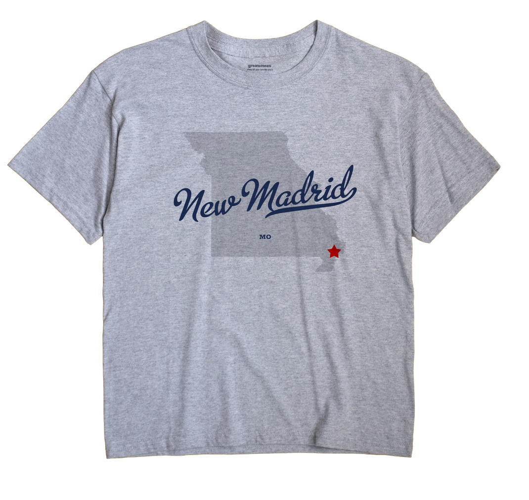 New Madrid, Missouri MO Souvenir Shirt