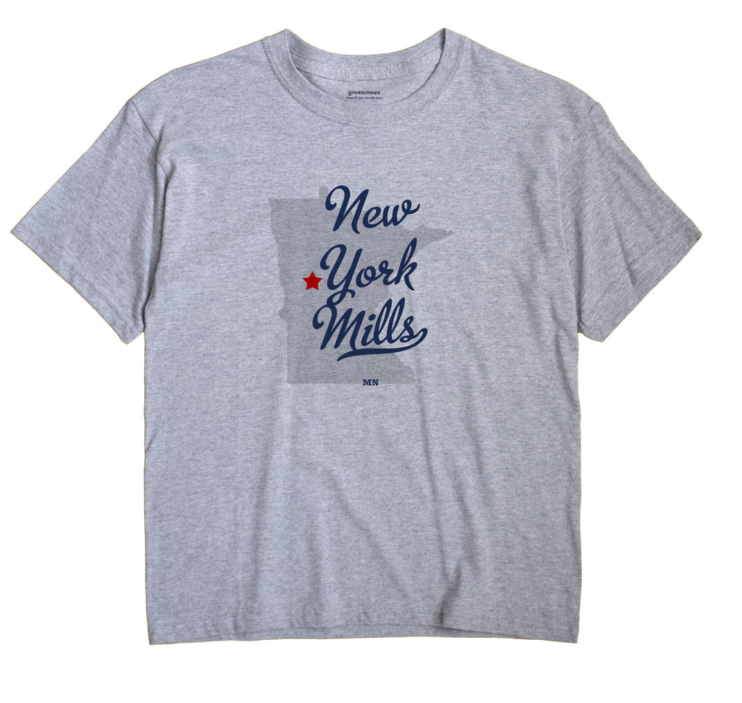New York Mills Minnesota MN T Shirt METRO WHITE Hometown Souvenir