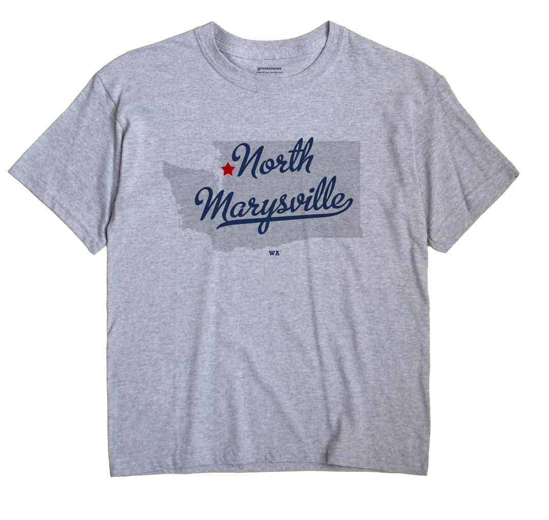 North Marysville Washington WA T Shirt METRO WHITE Hometown Souvenir