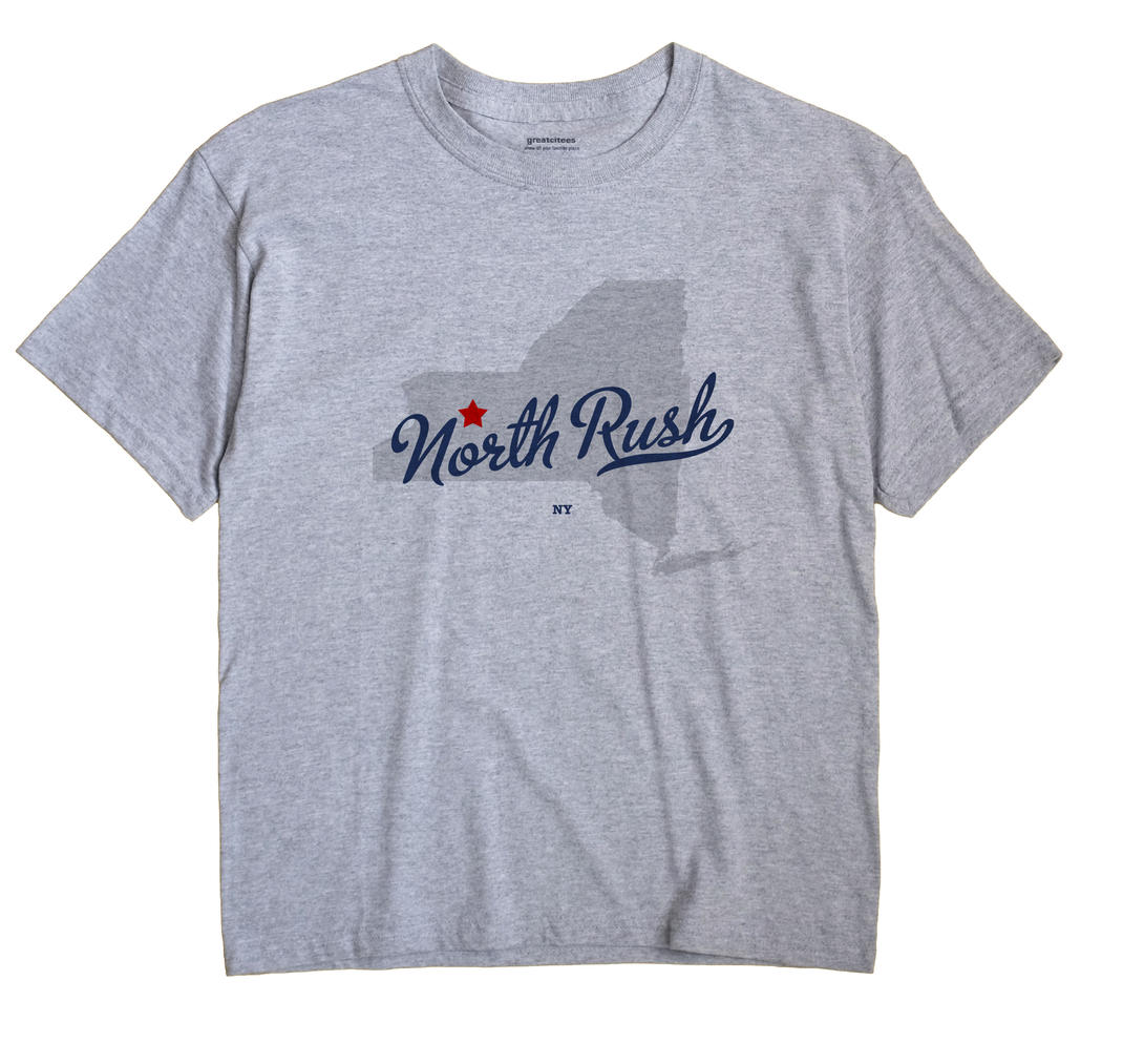 North Rush, New York NY Souvenir Shirt