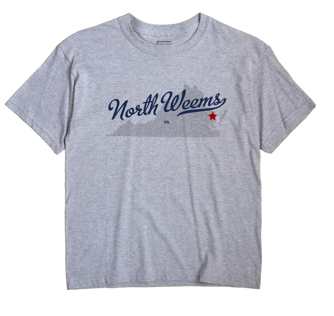 North Weems, Virginia VA Souvenir Shirt