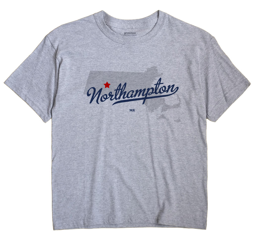 Northampton Massachusetts MA T Shirt METRO WHITE Hometown Souvenir