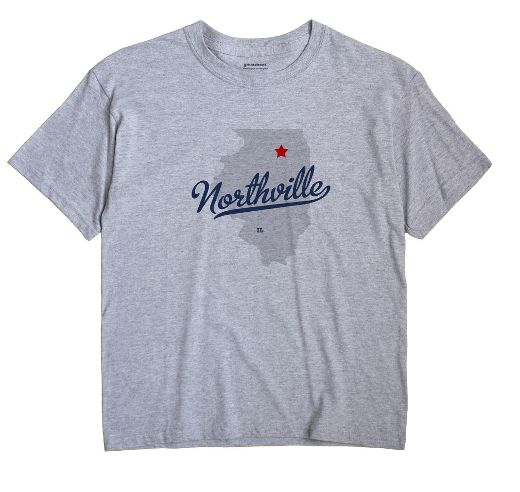 Northville Illinois IL T Shirt METRO WHITE Hometown Souvenir