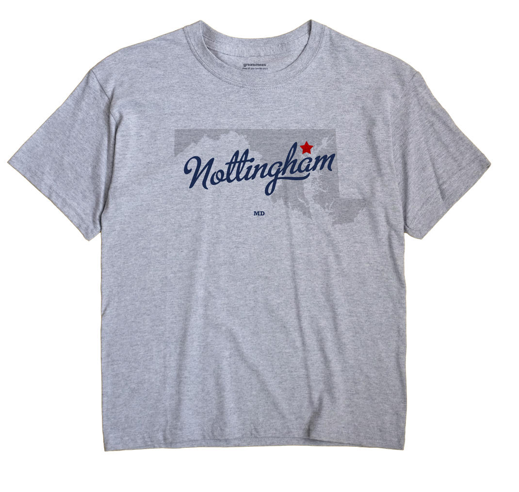 Nottingham Maryland MD T Shirt METRO WHITE Hometown Souvenir