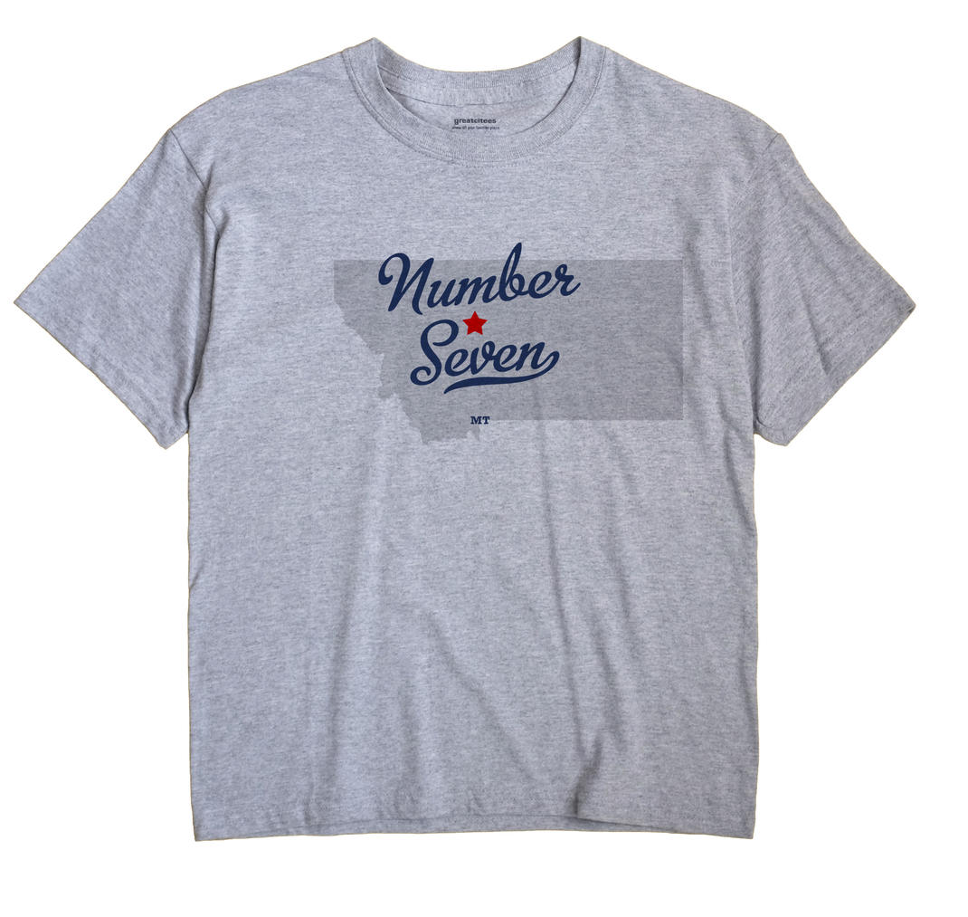 Number Seven, Montana MT Souvenir Shirt