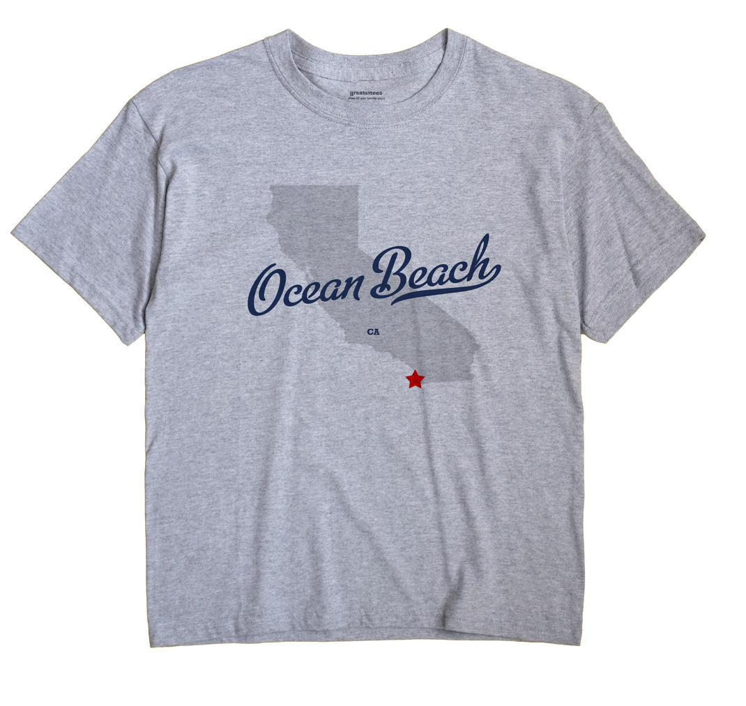 Ocean Beach, California CA Souvenir Shirt