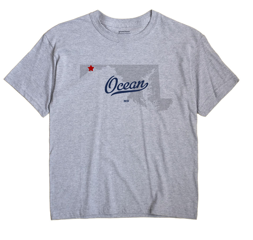 Ocean, Maryland MD Souvenir Shirt